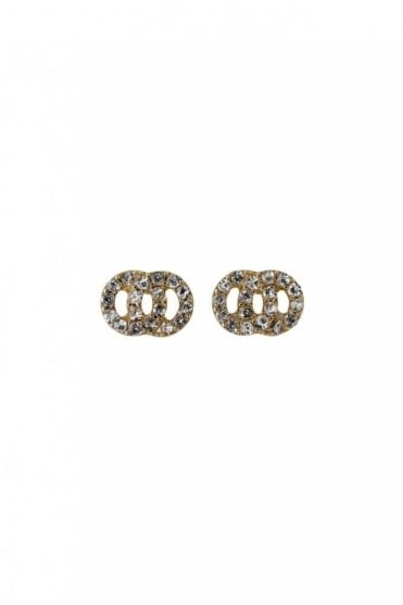 Victoria Gold Plated Crystal Earrings