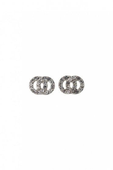 Victoria Silver Plated Crystal Earrings