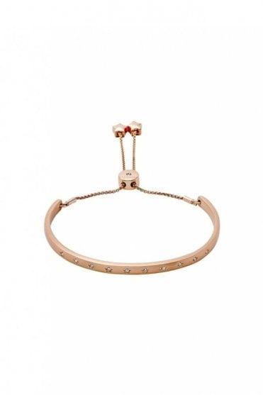 Winter Rose Gold Plated Crystal Bracelet
