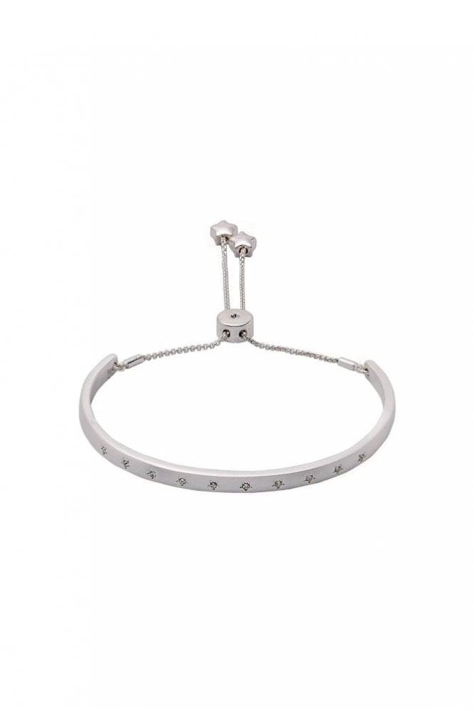 Pilgrim Winter Silver Plated Crystal Bracelet