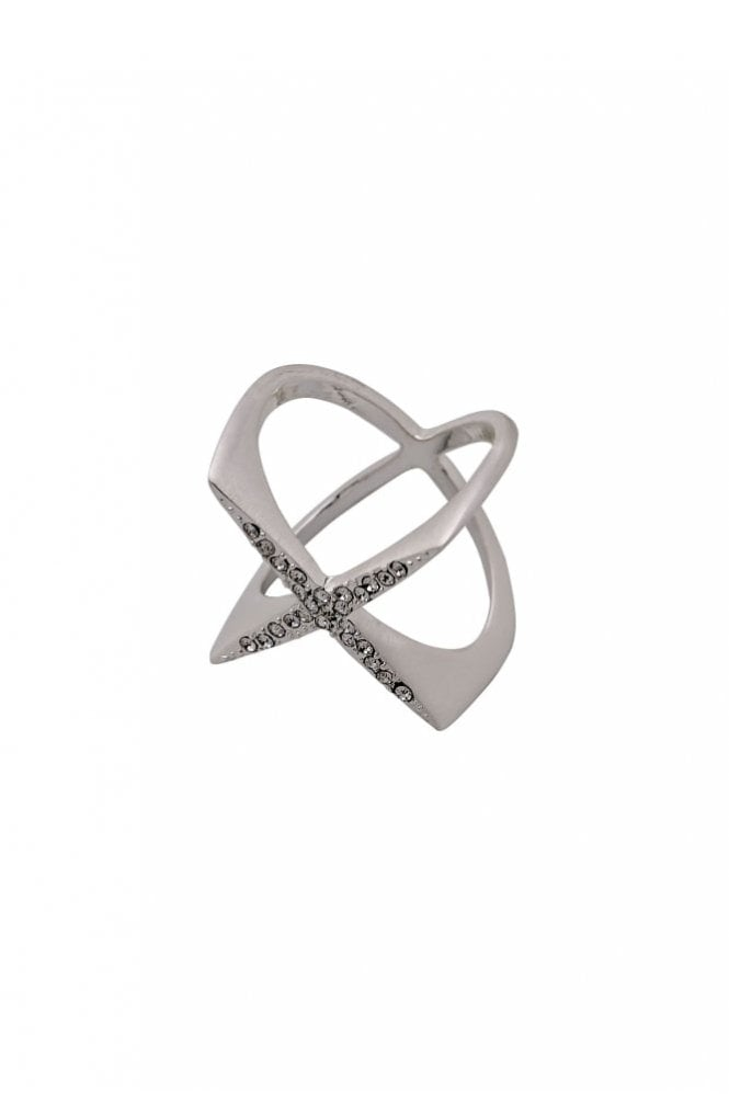 Pilgrim Winter Silver Plated Crystal Ring