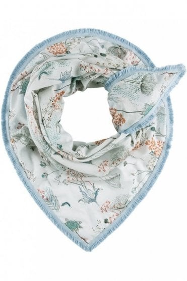 Botanical Garden Scarf in White