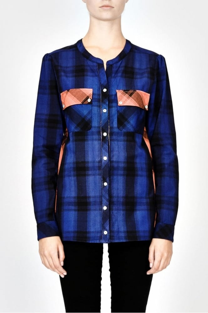 Pyrus Alabama Check Shirt in Cobalt Blue