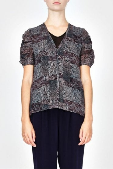 Dawson Top in Mutli Animal Print