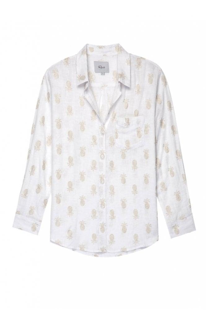 Rails Charli Gold Pineapple Shirt