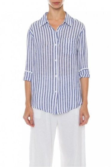 Charli Shirt in Blue/White Stripe