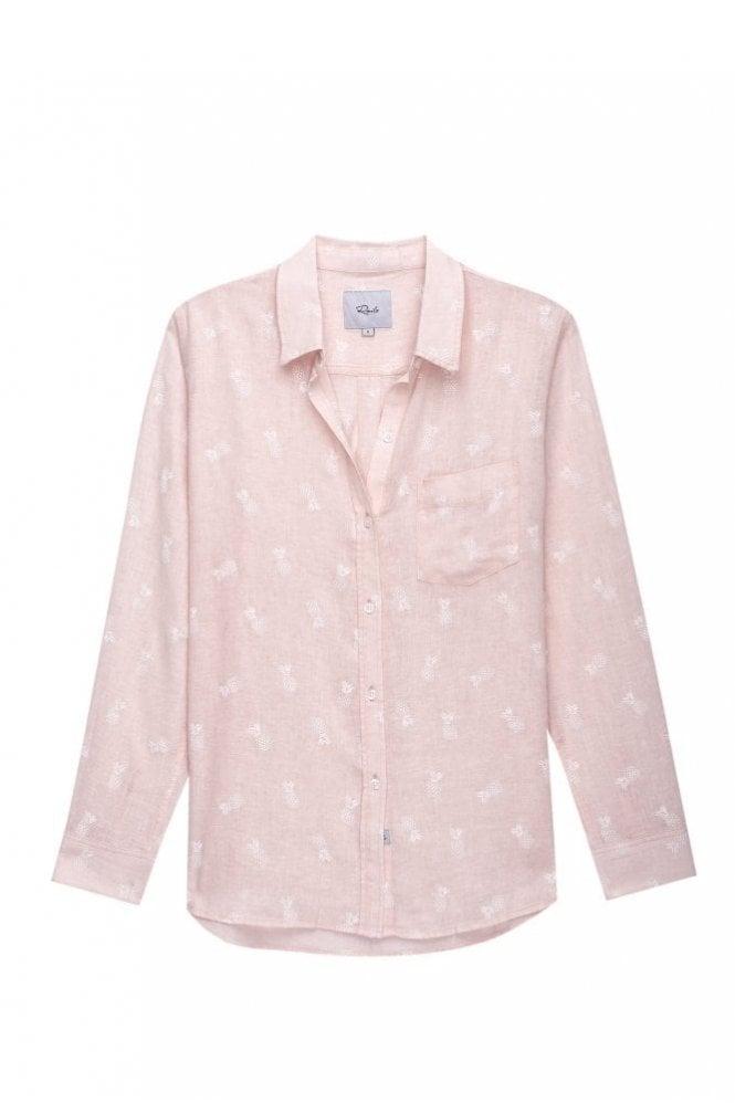 Rails Charli Shirt in White Pineapples