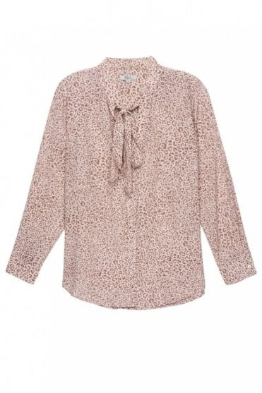 Colette Shirt in Blush Cheetah