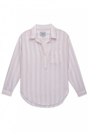 Elle shirt in Peony/White