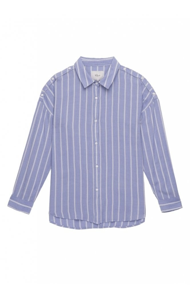 Rails Josephine Shirt in Bluebonnet White Stripe