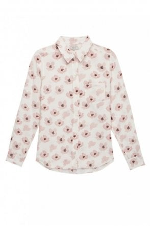 Kate Shirt in Pink Poppies
