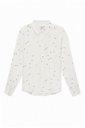 Kate Shirt In Rainbow Stars On White