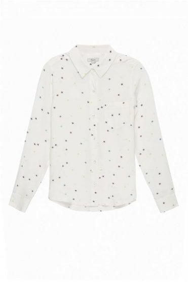 Kate Shirt In Rainbow Stars On White
