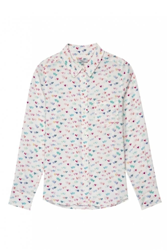 Rails Kate Shirt in Watercolour Hearts
