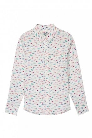 Kate Shirt in Watercolour Hearts