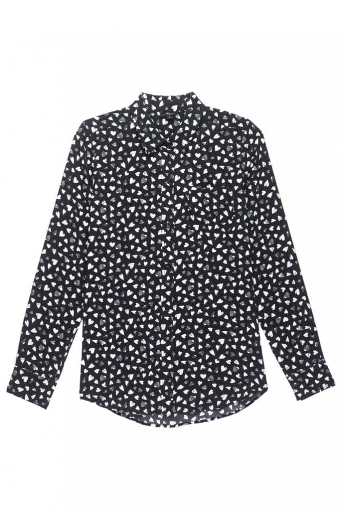 Rails Kate Silk Shirt in Black Corazon