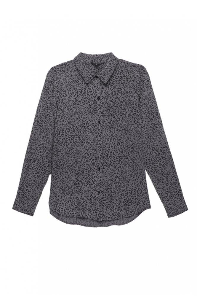 Rails Kate Silk Shirt in Charcoal Cheetah