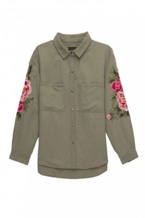 Marcel Shirt in Sage Pink Floral
