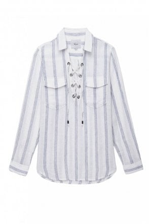 Matea Shirt in Flamenco Stripe