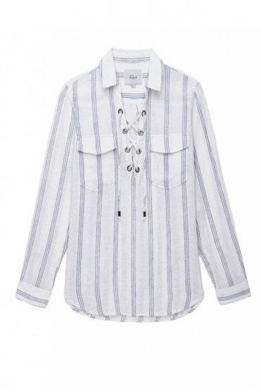 Matea Shirt in Flamenco Stripe