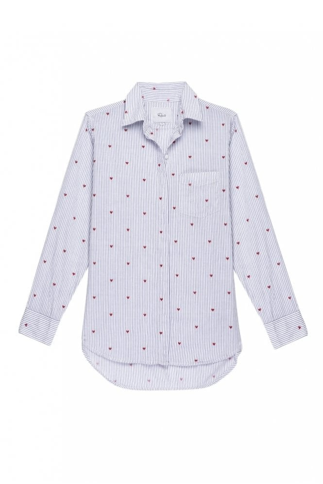 Rails Taylor Cotton Shirt in Girona Stripe with Hearts