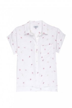 Whitney Shirt in Silk Beach Side