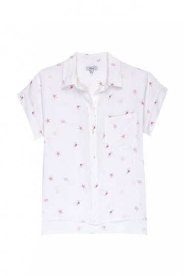 Whitney Shirt in Silk Beach Side