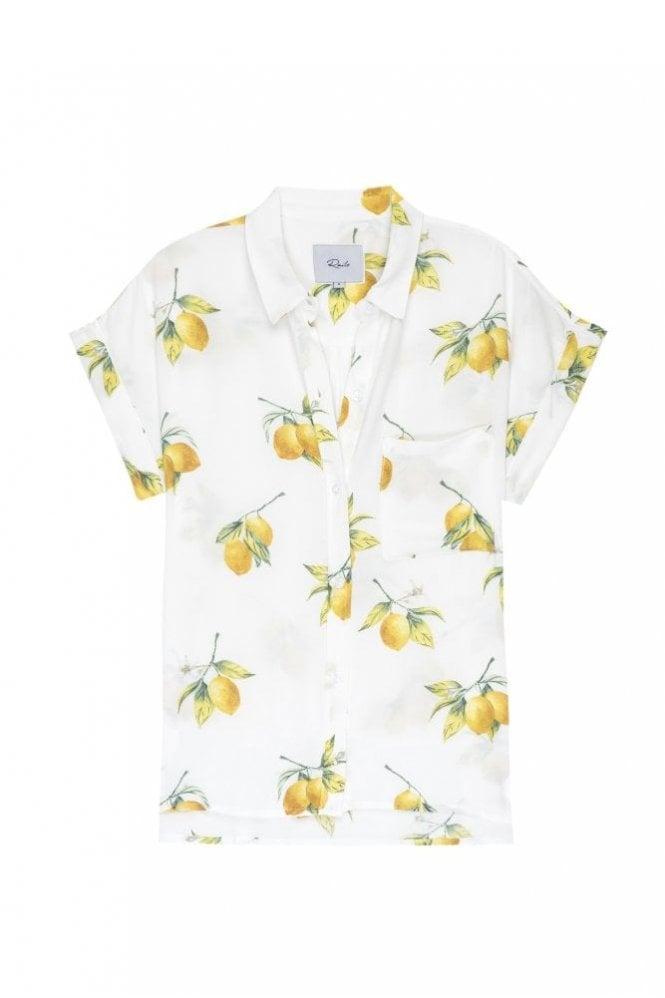 Rails Whitney Shirt in White Lemons