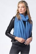 Repeat Cashmere Basic Cashmere Scarf in Blue