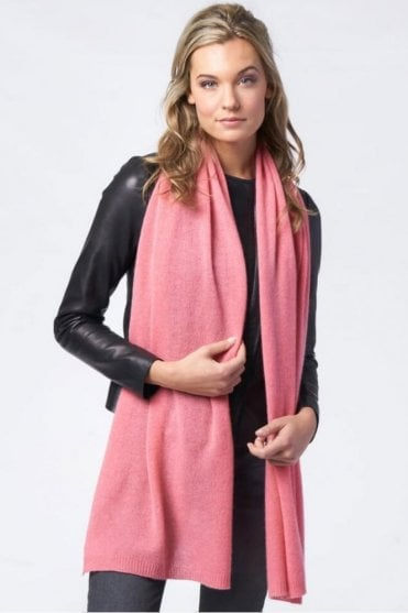 Basic Cashmere Scarf in Coral