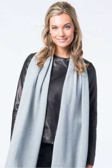 Basic Cashmere Scarf in Steel