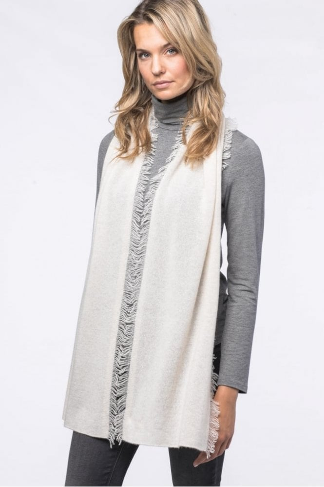 Repeat Cashmere Cashmere Scarf with Fringe