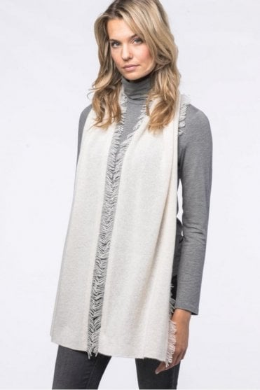 Cashmere Scarf with Fringe