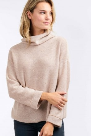 Golden Dot Cashmere Jumper in Beige