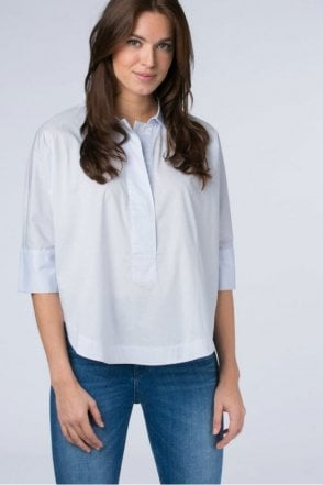 Oversized Batwing Shirt in Water