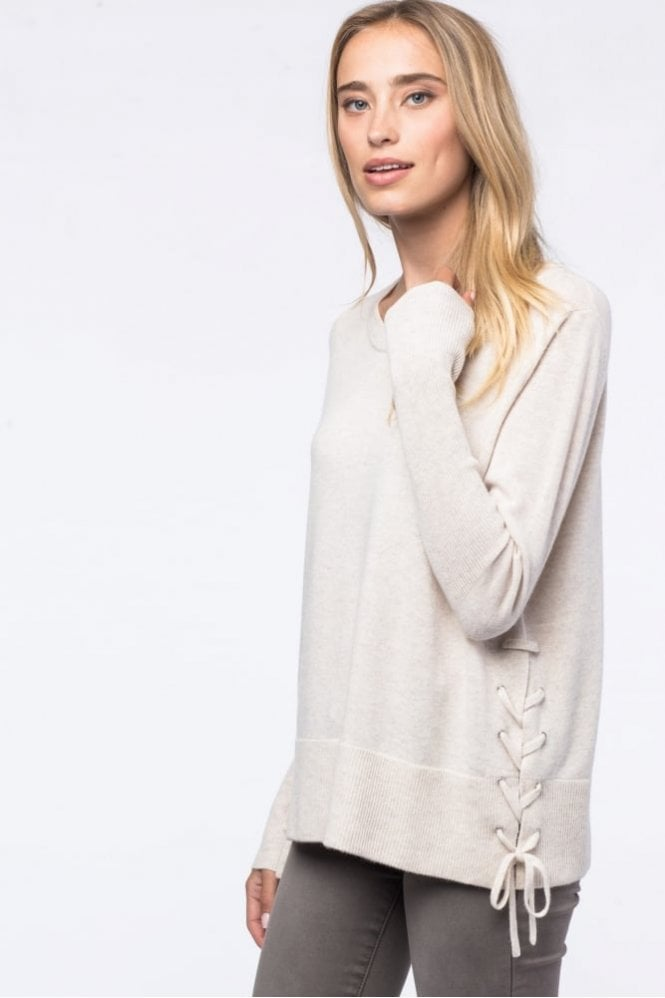 Repeat Cashmere Side Lace-up Sweater