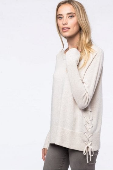 Side Lace-up Sweater