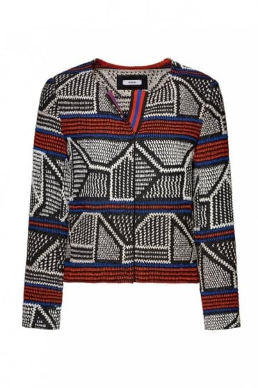 Black Patterned Jacket
