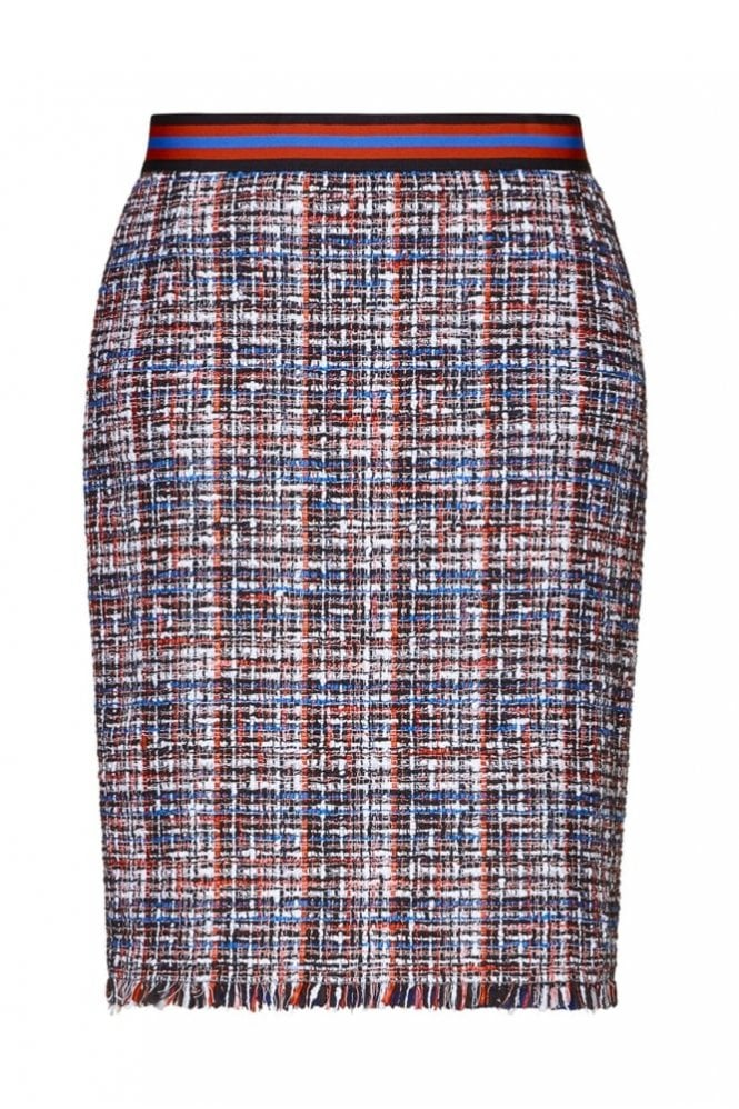 Riani Black Patterned Skirt