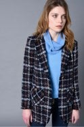 Riani Blue Patterned Frock Coat