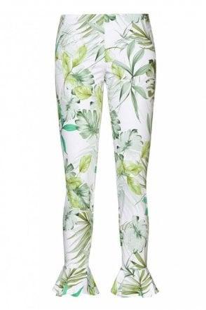 Caiman Patterned Slim Fit Pants