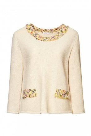Cream Patterned Pullover