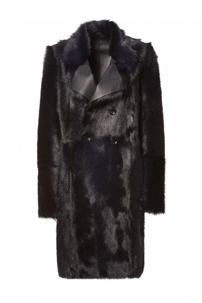 Riani Deep Blue Fur Coat