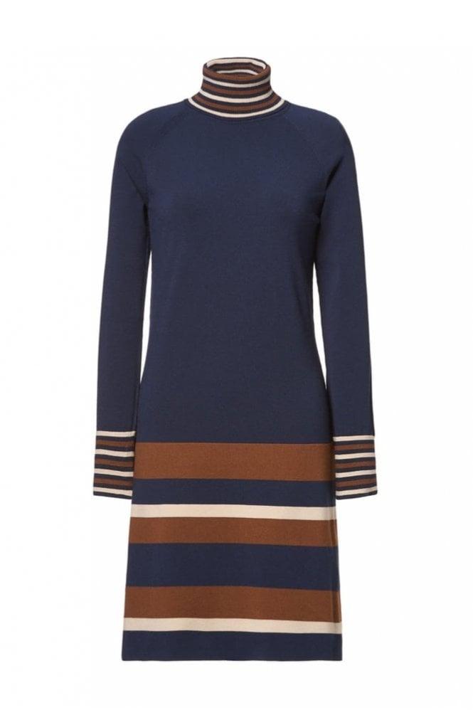 Riani Deep Blue Patterned Dress