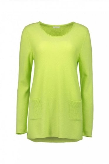 Green Glow Cashmere Pullover