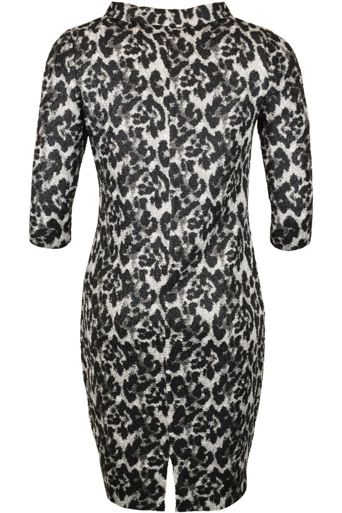 79a2ee428e1c Riani Leopard Print Dress in Black/Electric at Sue Parkinson