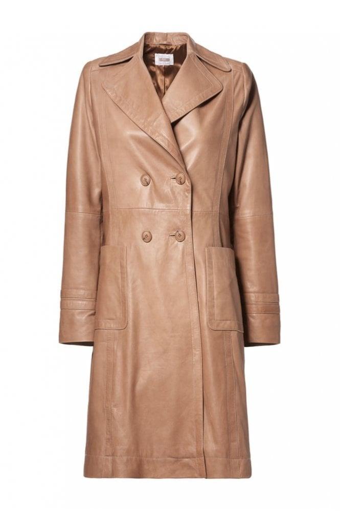 Riani Light Camel Leather Jacket