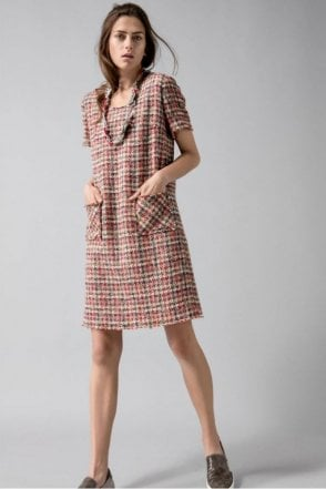 Soft Tweed Dress in Parrot