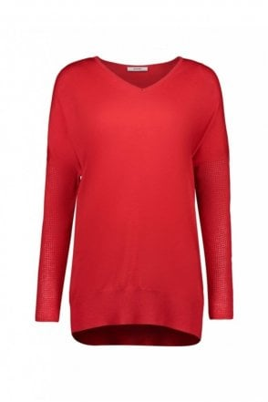 True Red Wool Sweater