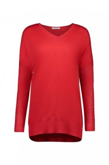 True Red Wool Sweater